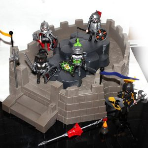 chateau playmobil avec chevaliers